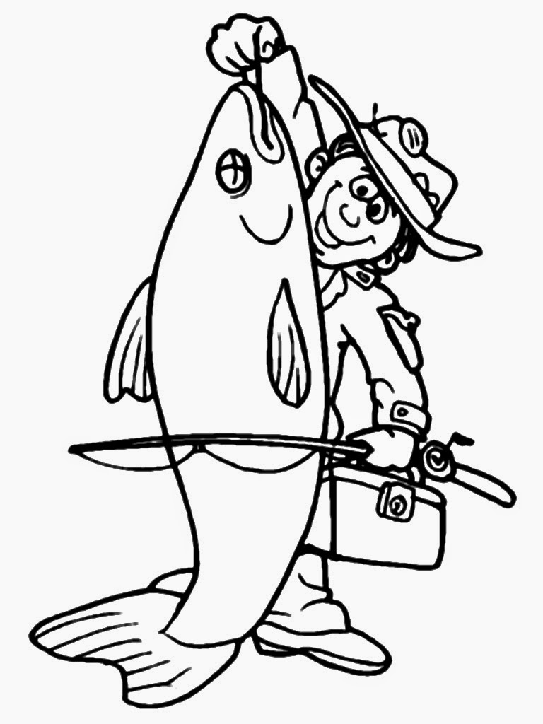 free fisherman coloring pages
