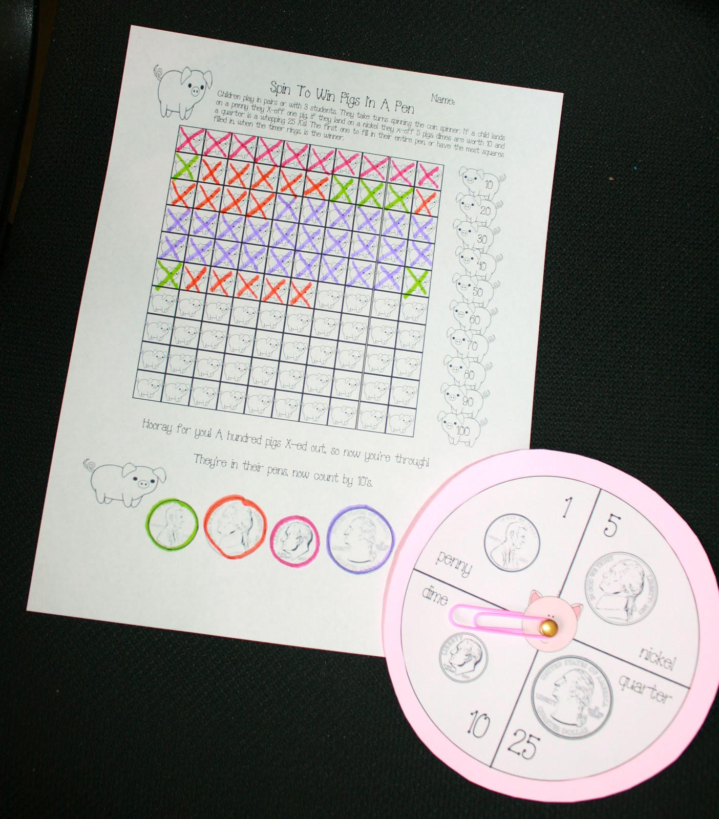 Classroom Freebies Piggy Math Packet