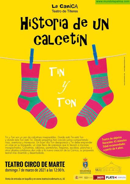 El Teatro Circo de Marte acoge 'Historia de un calcetín', de la compañía La Canica
