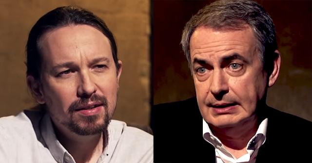 Iglesias y Zapatero