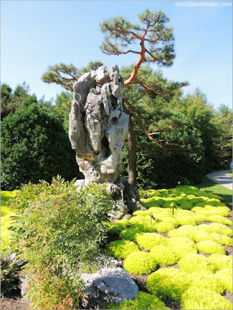 Rocas del Lago Tai en el Jardín Chino del Jardín Botánico de Montreal