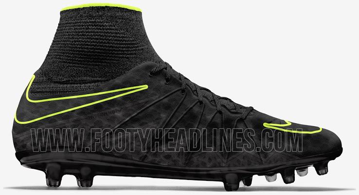 promo code 4c5dc 017bf 2016 Billiga Fotbollsskor Nike Hypervenom Phantom II Svart Volt