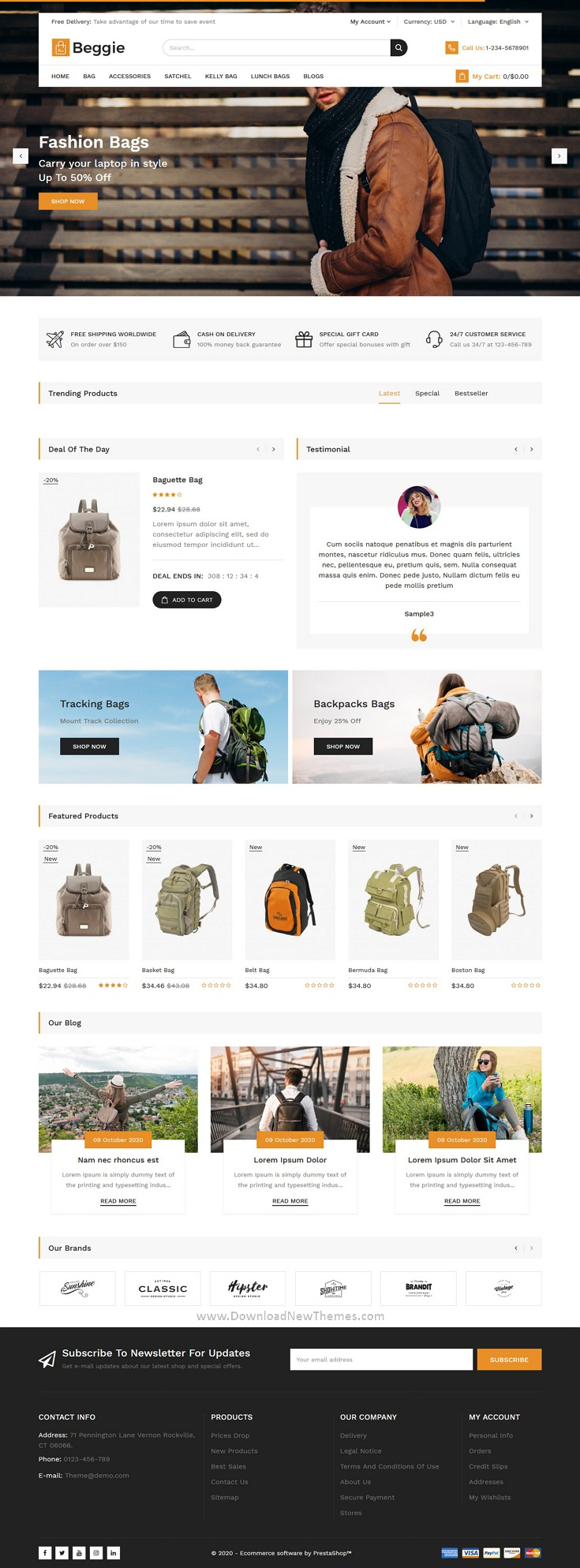 Bag Store Responsive Prestashop Theme