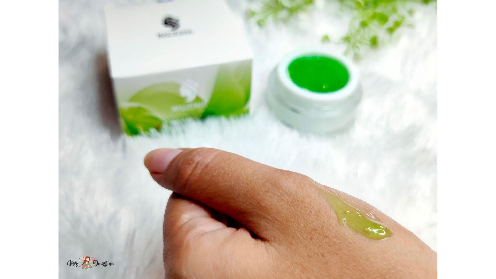Tekstur dan Aroma Green Glow Maresha Skincare