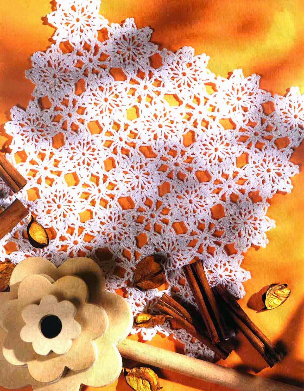 Patrón de Mantel individual al crochet