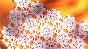 Mantel individual al crochet