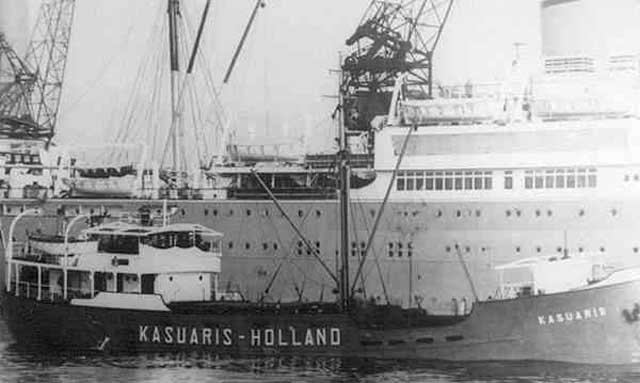 Dutch freighter Kasuaris, sunk on 2 March 1942 worldwartwo.filminspector.com