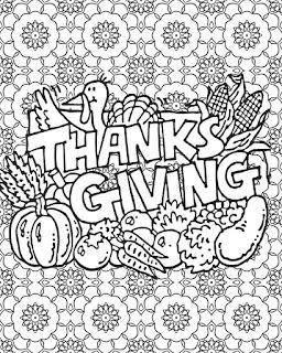 Mandala del dia de acción de gracias | Mandala thanksgiving para colorear