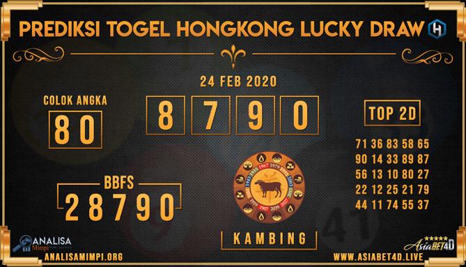 Prediksi Togel JP Hongkong 24 Februari 2020 - Analisa Mimpi