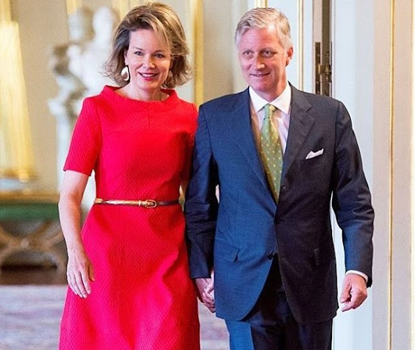 King Philippe and Queen Mathilde of Belgium attended a working meeting with school principals on the subject of education