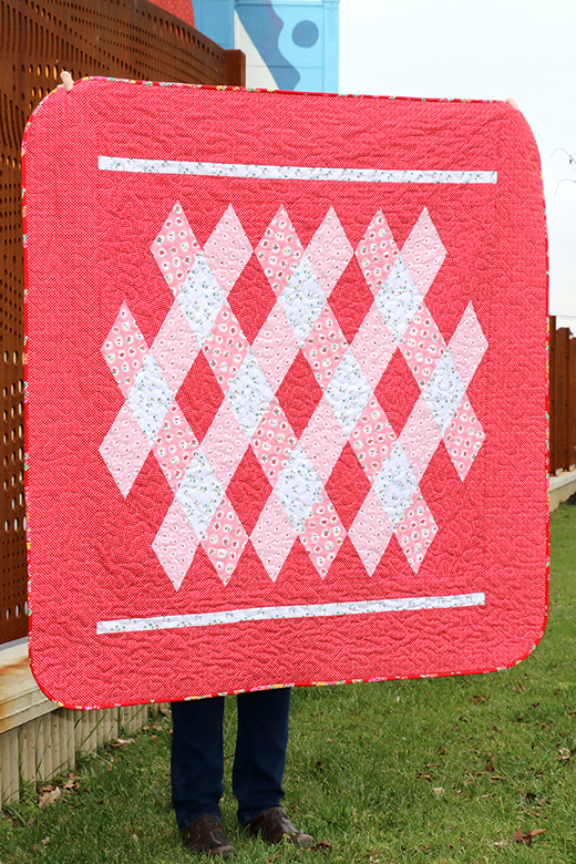 Hand Picked Criss Cross Quilt designed By Anjeanette Klinder