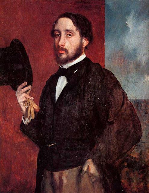 Эдгар Дега - Автопортрет в приветствии (1865-1866)