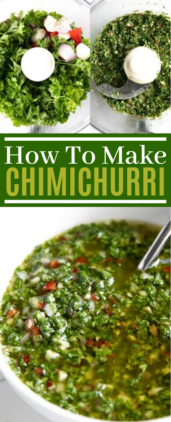 Chimichurri Recipe #vegetarian #glutenfree