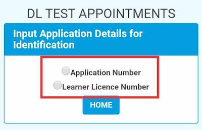 driving licence slot booking sarathi.parivahan.gov.in