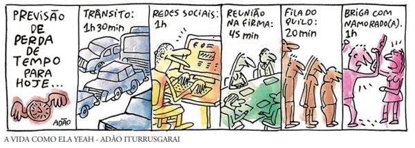FDSBC 2020: Observe a seguinte tirinha, publicada no jornal Folha de S Paulo, em 22/09/2018