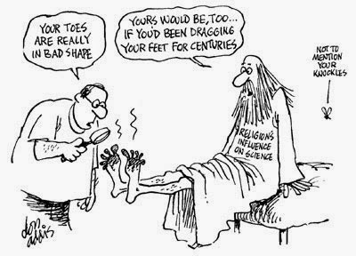 Funny Religion Dragging Feet Centuries Cartoon Joke Picture