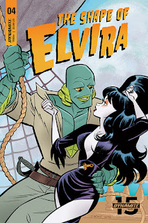 Cover B for The Shape of Elvira #4 from Dynamite Entertainment