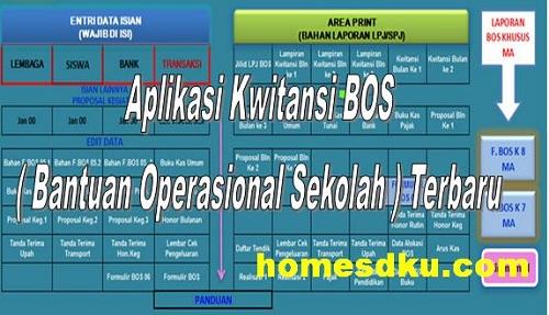 Aplikasi Kwitansi Bos Bantuan Operasional Sekolah