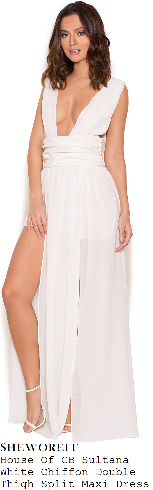 vicky-pattison-house-of-cb-sultana-white-chiffon-sleeveless-plunge-front-thigh-split-maxi-dress