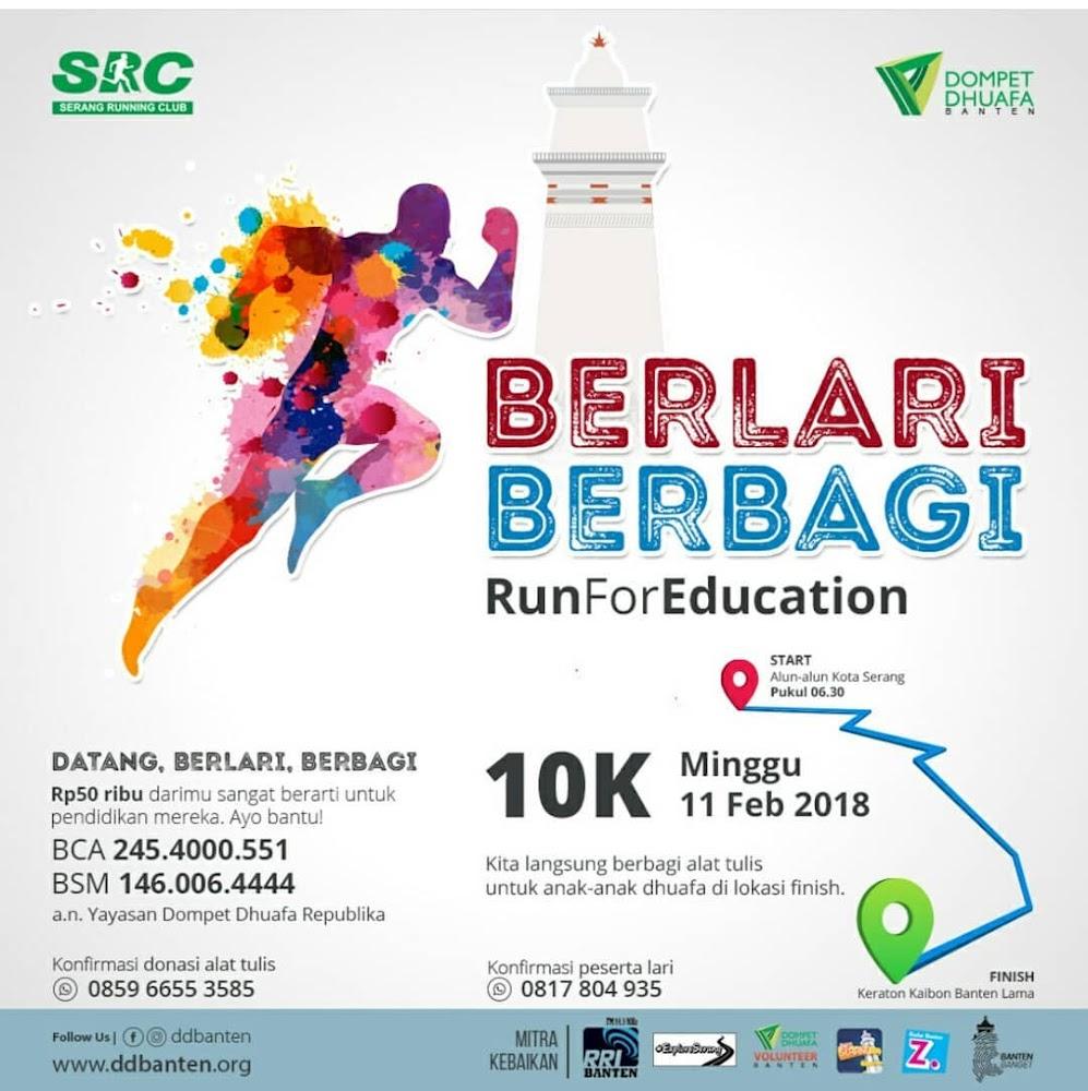 Berlari Berbagi - Run for Education • 2018