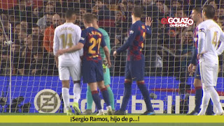 Pique silenced those fans who insulted Ramos in Clasico