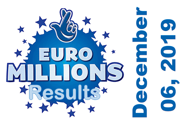 EuroMillions Results for Friday, December 06, 2019