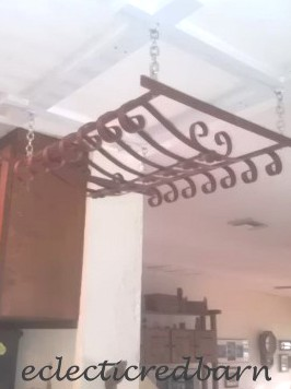 sand blasted pot rack