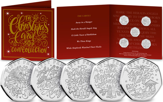 Guernsey 50 pence 2020 - The Christmas Carols set
