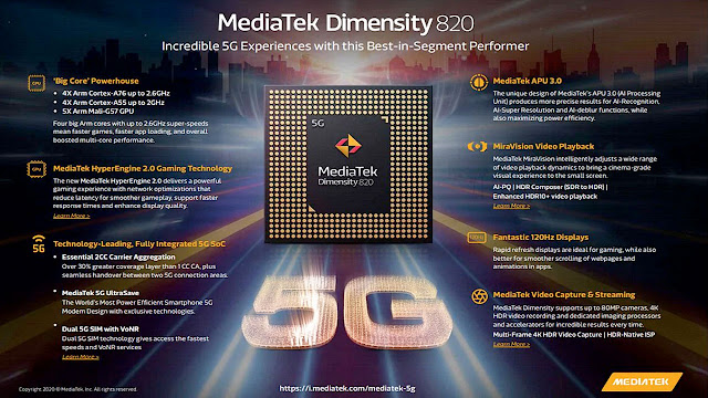dimensity 820 spec