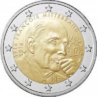 Mitterand 100 vuotta Ranska kolikko 2016