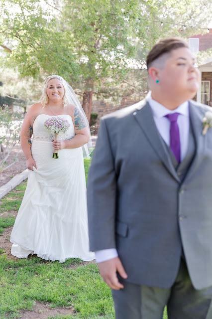 First Look at a Shenandoah Mill Lesbian Wedding in Gilbert, AZ