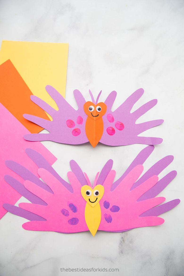Butterfly handprint  Mother's Day card for kids to make