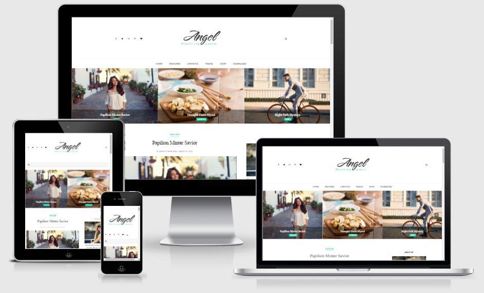Angel Blogger Template - Template Nhiếp ảnh đẹp 2017