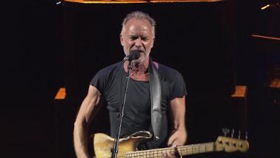 El cantante Sting en uno de sus conciertos