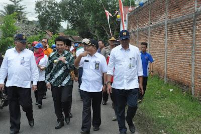 Dirjend SDA Kementrian PUPR Tinjau Lokasi Pasca Banjir Gandusari