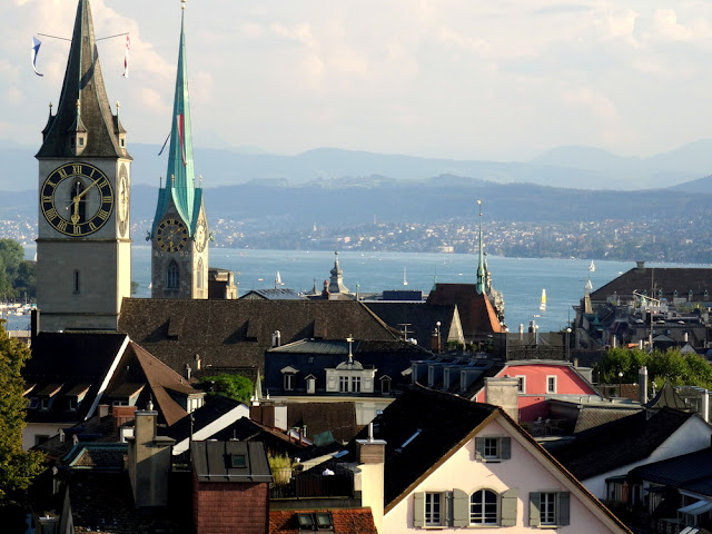 Zurich, Switzerland: Beautiful City Views from Jules Verne Panorama Bar