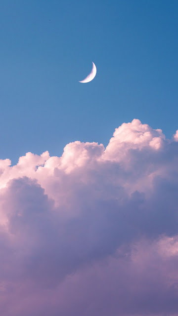 Crescent Moon Cloud Sky