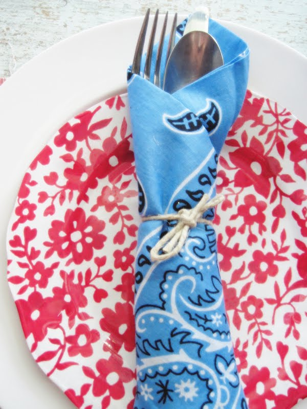Perfect Two Shades of Pink: Five Uses for Red, White, and Blue Bandanas  ZN09