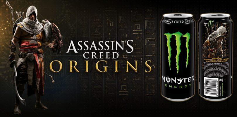 En octubre tendremos latas de Monster de Assassin's Creed con códigos para el videojuego