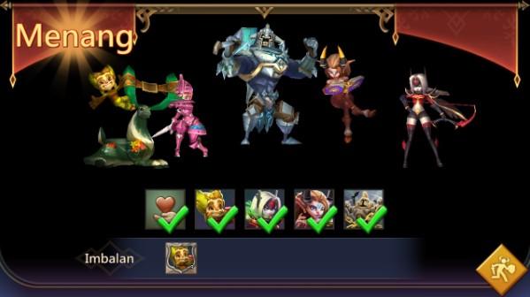 Susunan Hero yang tepat untuk Tantangan Terbatas Penjaga Rimba Stage 6