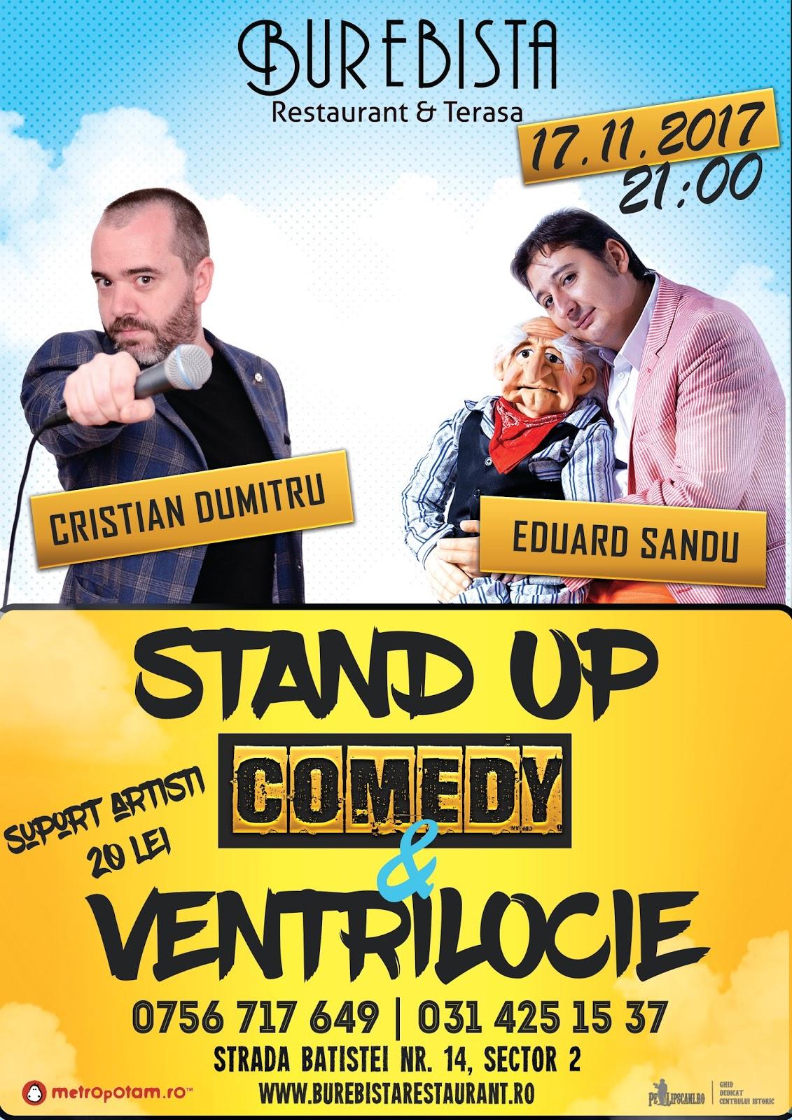 Stand-Up Comedy Bucuresti Vineri 17 Noiembrie