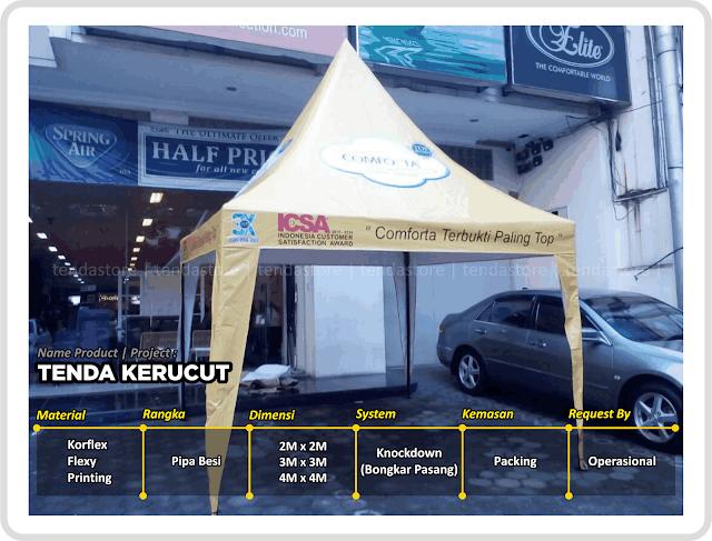 Tenda Kerucut - Branding - Costum
