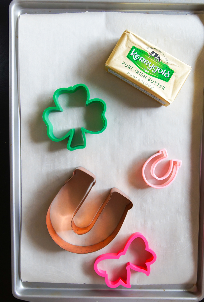 cut-out cookies made with Kerrygold butter