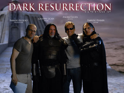 Fabrizio Rizzolo in arte Brian Ice con il cast di ''Dark Resurrection''