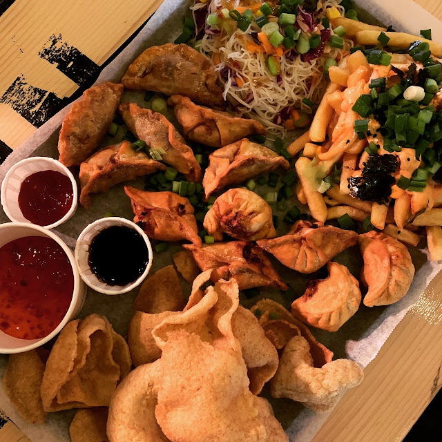 Dumpling Platter at Outside in food court, Portsmouth