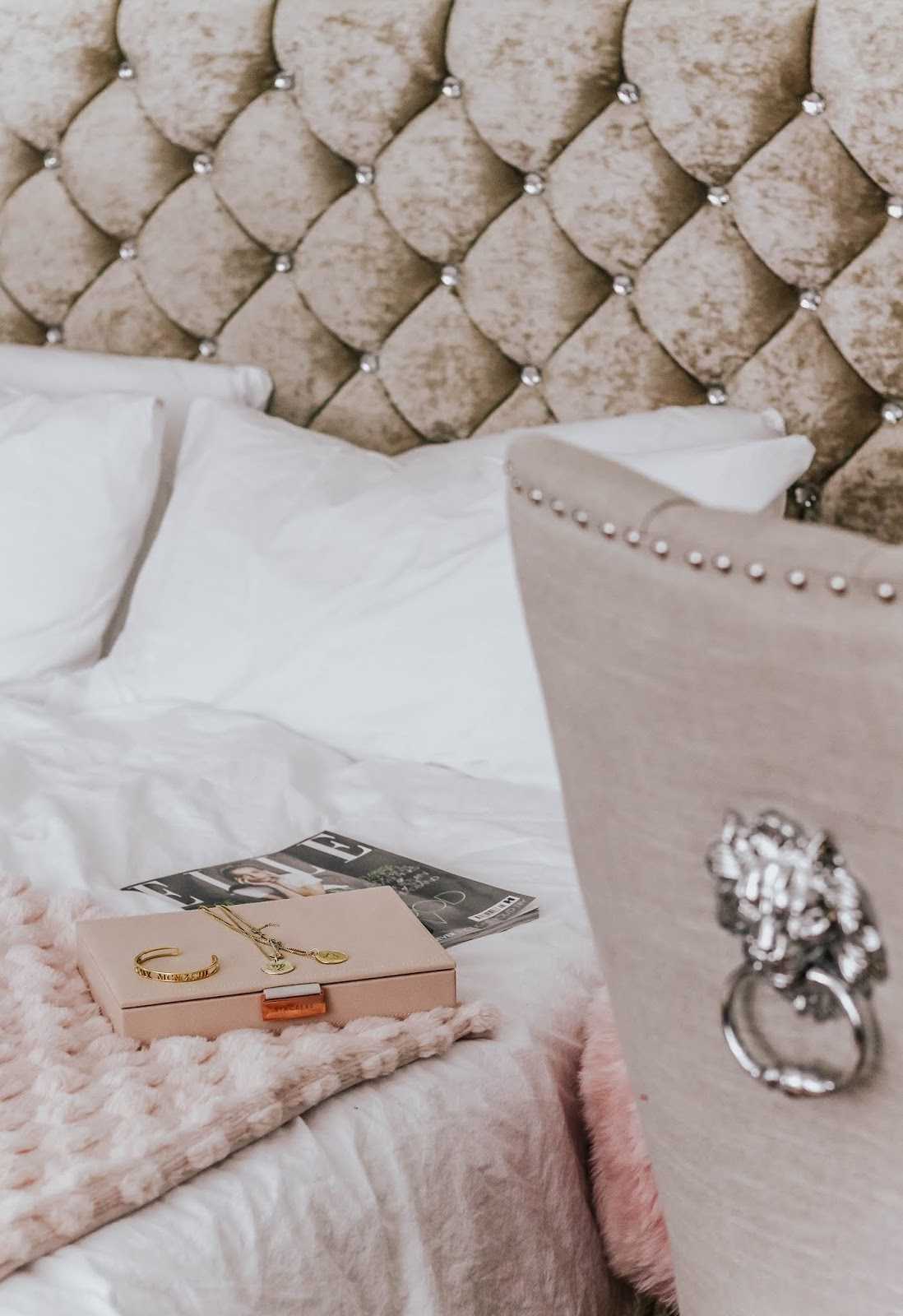 Luxury interior blog bedroom scene