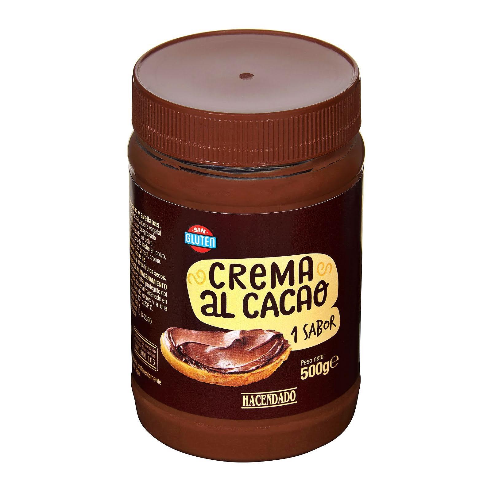 Crema al cacao con avellanas Hacendado