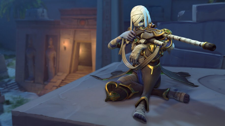 Ana Pharoah Overwatch Halloween Terror Skin 4k Wallpaper 51232