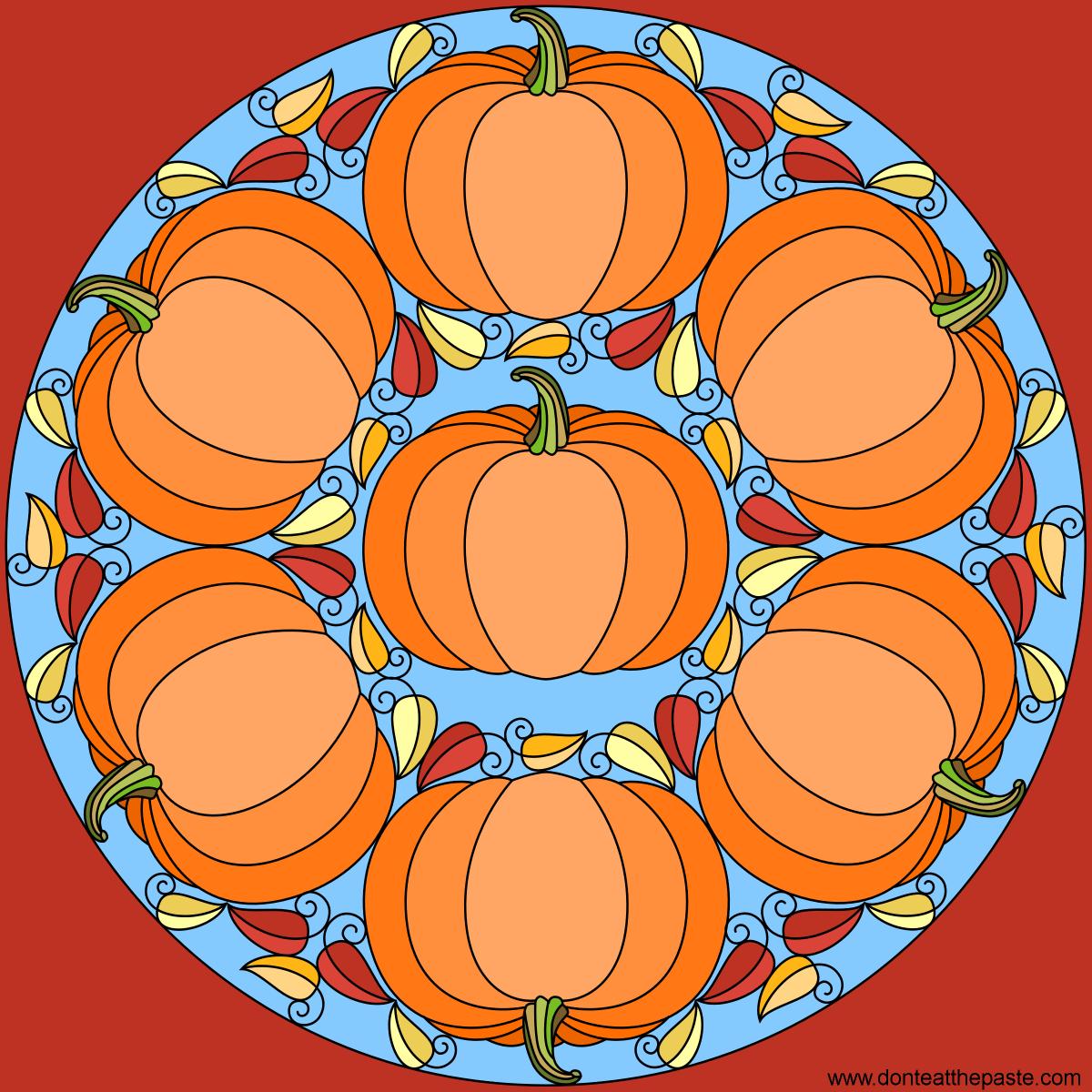 Don't Eat the Paste: Pumpkin Mandala- Happy Autumn!