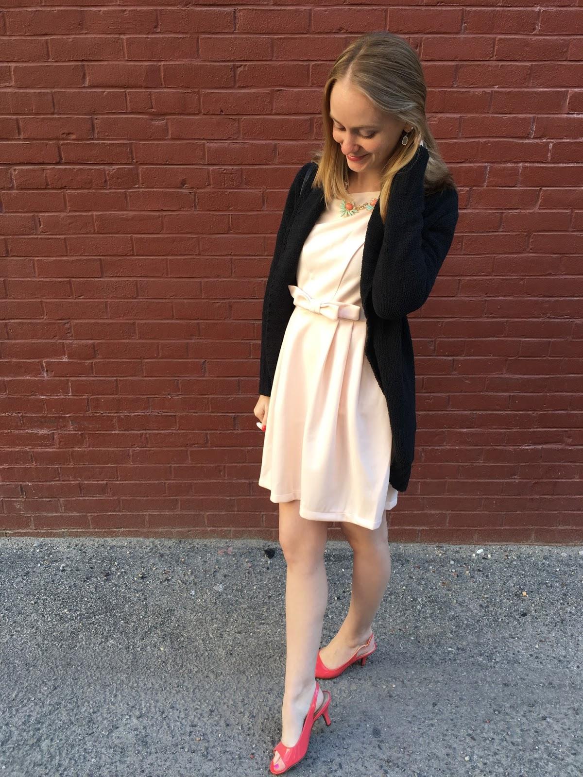 pink bow dress shein fashion blogger 2016